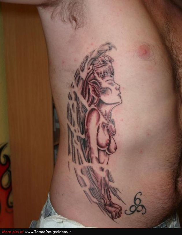Tattoo design ideas for Men side tattoo