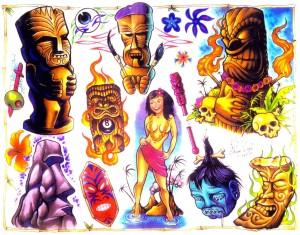 tikki alien tattoos designs 300x235 - tikki-alien-tattoos-designs